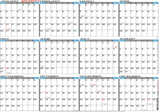 "JJH Planners - Laminated - 24"" X 17"" Medium 2020 Erasable Wall Calendar - Horizontal 12 Month Yearly Annual Planner (20h-24x17)"