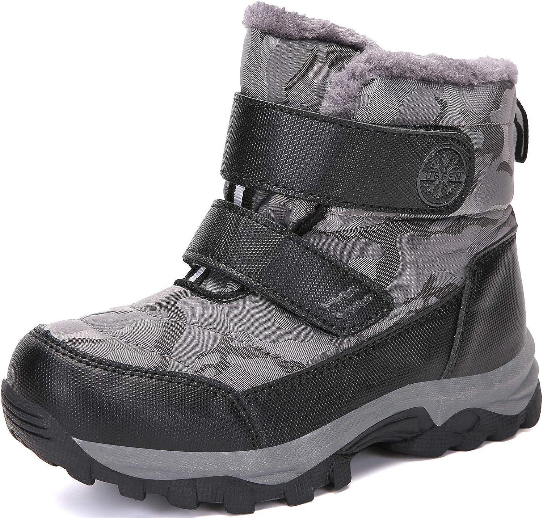 UBFEN Kids Snow Boots Boys Waterproof Minneapolis Mall Warm Winter Outdoor 5% OFF Girls