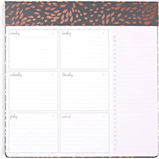 Erin Condren Schedule Pad/Productivity Pad 10x10 Weekly Layout - Painted Petals with Metallic Accents