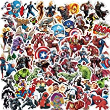 Marvel Avengers Stickers for Laptop,Graffiti Waterproof Stickers for Hydro flasks Water Bottles Skateboard Bike Luggage,Superhero Decals Party Favors for Teens,Adults,Boys and Girls Sticker(104pcs)