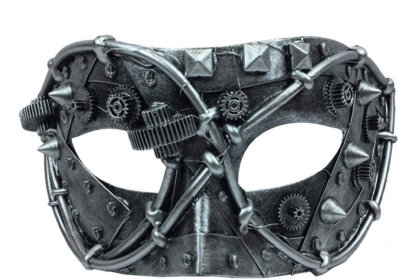 KBW Albuquerque Mall Silver Venetian Steampunk Mask Boston Mall Rustic Costume Eye Mechanical