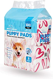 Best Pet Supplies Puppy/Training Pads - Pink Heart, Pack of 100