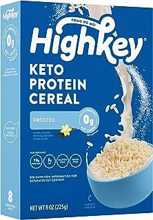 HighKey Keto Protein Breakfast Cereal - 0 Net Carb & Zero Sugar, Grain & Gluten Free Cereals Snack - Non GMO Food - Paleo,...