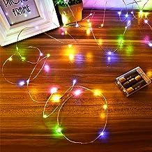 Led Lichterkette Batterie Strombetrieben Innen 4 Packung Batteriebetrieben 5m 50er Micro LED Kupferdraht Lichterketten f/ür Schlafzimmer Weihnachten Dekoration Blau Feste Hochzeiten