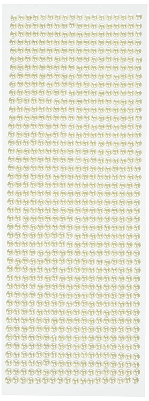 Wrapables 792-Piece Acrylic Pearl Adhesive Rhinestone Stickers, 5mm