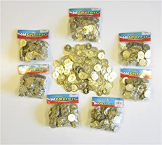 Unbranded 1000 Plastic Gold Coins Pirate Treasure Chest Play Money