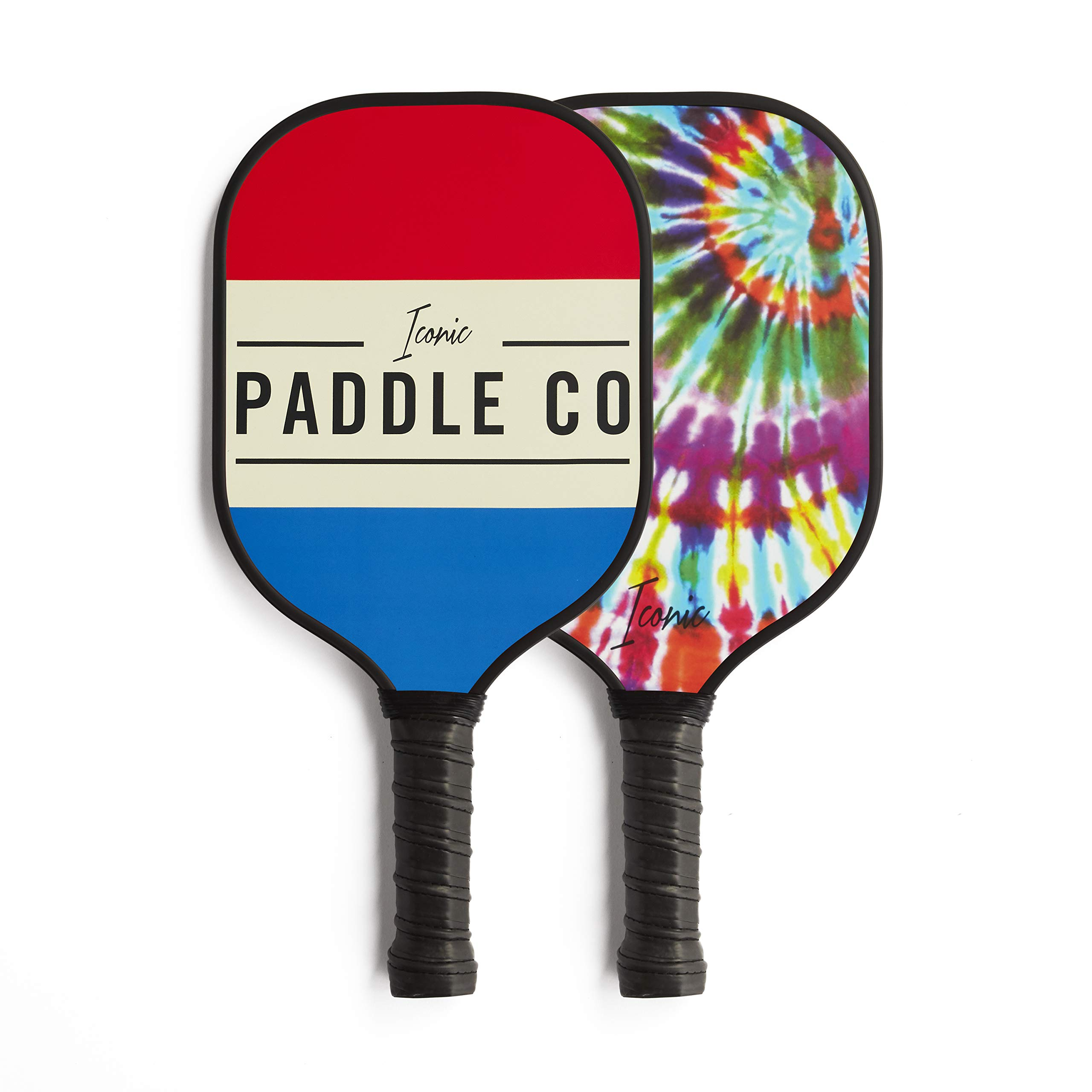 Iconic Paddles Pickleball Paddle–Graphite Face with  -2QW6
