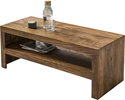 Wohnling Couchtisch Massiv-Holz Sheesham 110 cm breit