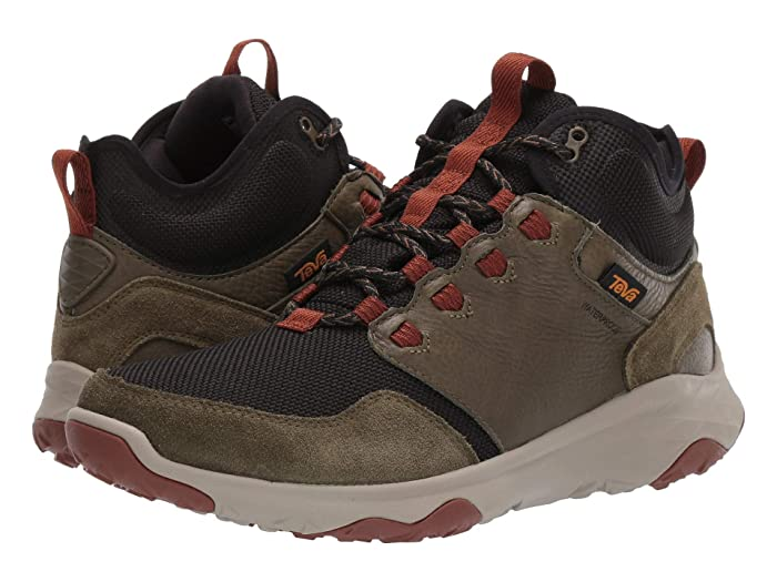 Teva  Arrowood Venture Mid WP (Dark Olive) Mens Shoes