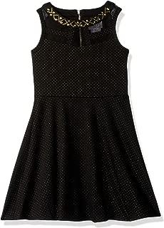 Girls' Big Sleeveless Ponte Party Dress