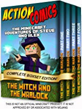 Action Comics Boxset: The Minecraft Adventures of Steve and Alex: The Witch & the Warlock - Complete Boxset Edition (Parts 1, 2, 3 & 4) (Minecraft Steve and Alex Adventures Boxset Series Book 8)