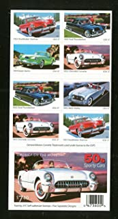 1950's Sporty Cars Collectible Stamp Booklet of Twenty 37 Cent Stamps Scott 3935b