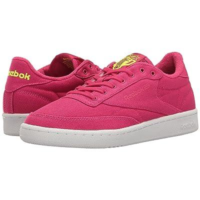 Reebok Lifestyle Club C 85 EH (Pink Craze/Solar Yellow/White) Women