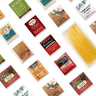 Chai Inspired Tea Sampler Kit - 40+ Servings Chai Inspired Tea Assortment with 10 Honey Sticks. Perfect Sampler Gift for Those Who Crave Chai Tastes. Best Tea Gift.