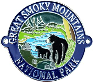 Great Smoky Mountains - Bear and Cub - Hiking Stick Medallion