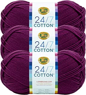 (3 Pack) 24/7 Cotton Yarn, Beets
