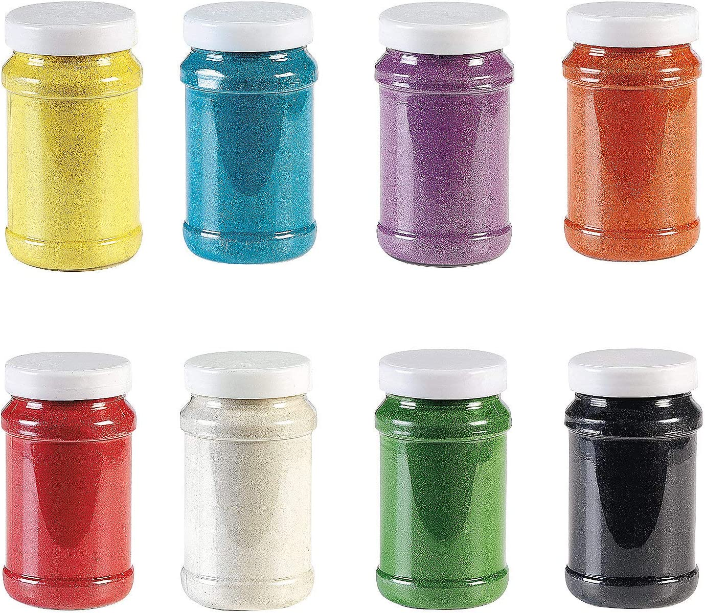 Rainbow Craft Sand Assortment (8Pc) - Crafts for Kids and Fun Home Activities