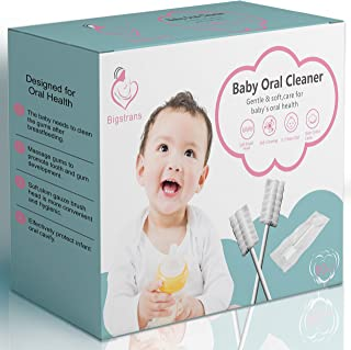 60 PCS Baby Toothbrush, Bigtrans Infant Toothbrush Clean Baby Gums Disposable Tongue Cleaner Gauze Toothbrush Infant Oral ...