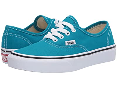 Vans Kids Authentic (Big Kid) (Caribbean Sea/True White) Kids Shoes