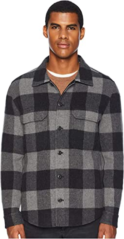 Splittable Plaid Overshirt