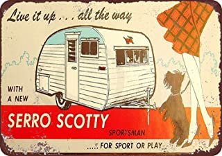 7welove& Tin Sign Serro Scotty Trailers Vintage Look Reproduction Metal Iron Painting 8X12 INCH