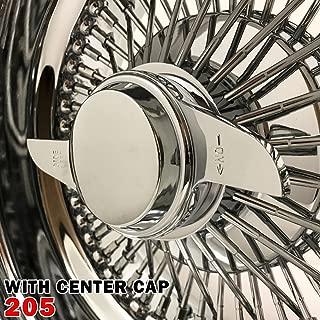 1PCS 13x7 Rev 72 Spokes Chrome Reverse Wire Wheels Straight Lace Deep Dish Rims (205)