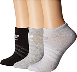Originals Sheen 3-Pack No Show Sock