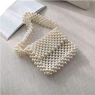 Handmade Pearl Handbags Women Beaded Shoulder Bag Luxury Party Pearls Evening Purse Beading Phone Bags