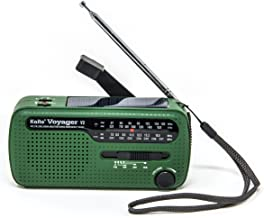 Best NOAA Portable Solar/Hand Crank AM/FM, Shortwave & NOAA Weather Emergency Radio with USB Cell Phone Charger & LED Flashlight (Green)