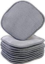 Polyte Premium - Duk för sminkborttagning och ansiktstvätt - kemikaliefri och hypoallergen - mikrofiber - 10 st - grå - 13...