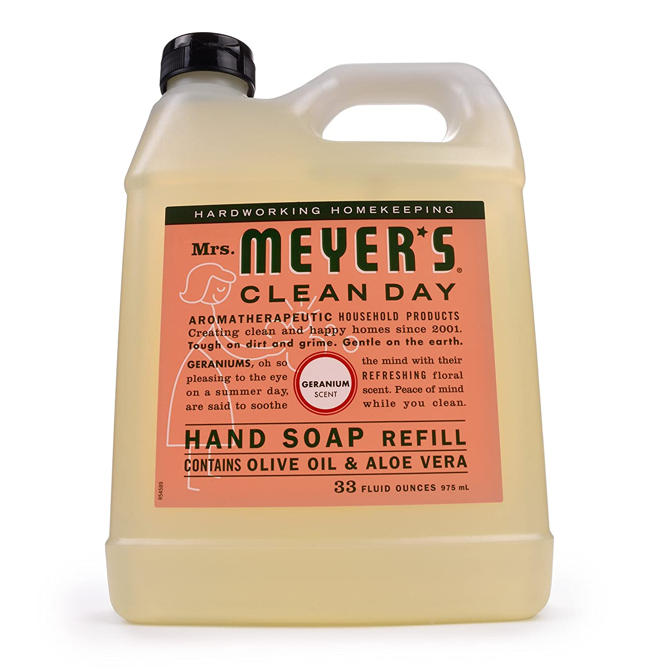 被害者哲学的ドライバMrs. Meyer's Clean Day Liquid Hand Soap Refill,33 oz,Geranium by Mrs. Meyer's Clean Day