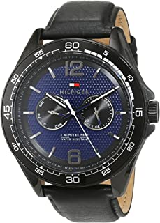 Tommy Hilfiger Erik Men's Blue Dial Leather Band Watch - 1791368