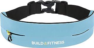 comprar comparacion Build & Fitness Riñonera Running – Cinturón Hombre/Mujer Ajustable, Clip para Llaves - Ligero, Fino, Manos Libres – Móvile...