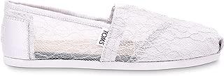TOMS - Women Slip-On Shoes, Size: 5 B(M) US, Color: Light Grey Lace