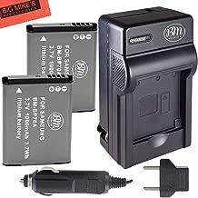BM Premium 2-Pack of BP-70A, BP70A Batteries and Battery Charger for Samsung DV150F, ES65, ES70, ES80, MV800, PL120, PL170, PL20, PL200, PL80, SL50, SL600, SL605, SL630, ST65, ST66, ST76, ST80, ST90, ST95, ST100, ST150F, ST700, TL105, TL110, TL205, WB30F, WB35F, WB50F Digital Camera