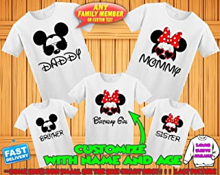 c5aee3aaf Disney family matching custom t-shirts, Family vacation disney shirts,Mickey  Minnie mouse