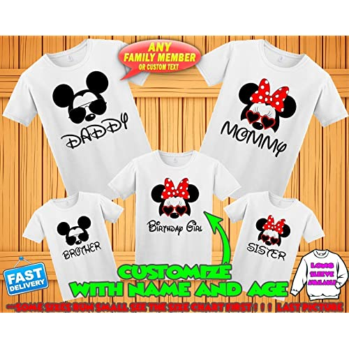 1208510d Disney family matching custom t-shirts, Family vacation disney shirts,Mickey  Minnie mouse
