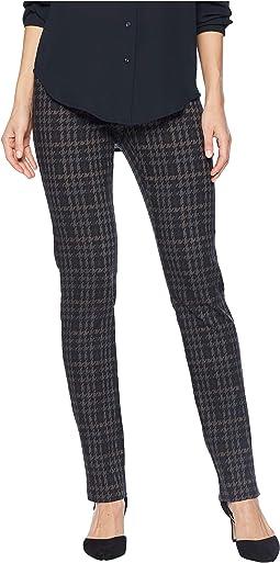 Dogtooth Pattern Jacquard Slim Pants