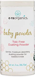 Baby Powder Talc Free - USDA Certified Organic Dusting Powder for Excess Moisture & Chaffing That's Actually Good for Your Skin- Non Toxic, Non-GMO, Cruelty Free Era-Organics