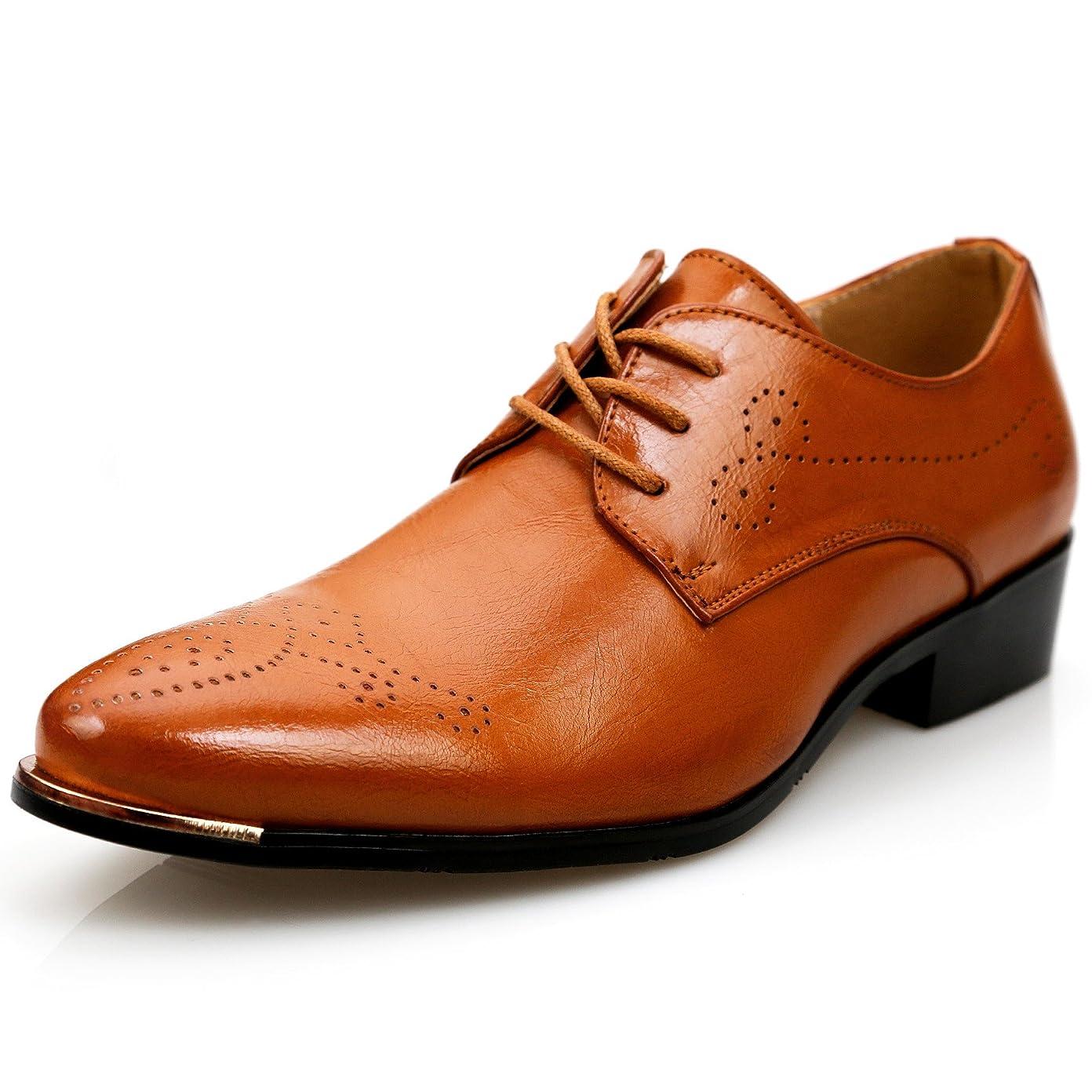 見ました週末黙[デザート] フォクスセンス Foxsense ビジネスシューズ 紳士靴 外羽根 ストレートチップ 革靴