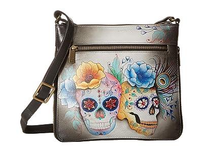 Anuschka Handbags 550 Expandable Travel Crossbody (Calaveras de Azucar) Handbags