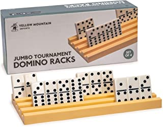 Yellow Mountain Imports Jumbo Tournament Sized Domino Racks - Set of 4