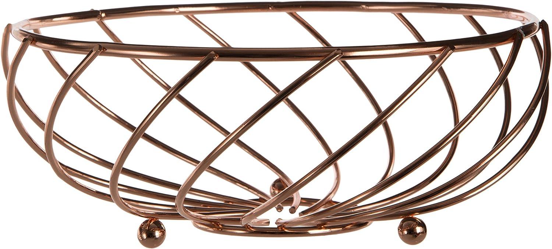 Premier 特価品コーナー☆ Housewares Kuper Fruit Basket - 着後レビューで 送料無料 21 Gold Rose cm