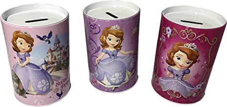Set of 3 Sofia The First Kids Saving Coin Money Banks