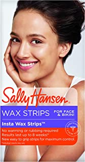 Sally Hansen Insta Wax Strips for Face & Bikini, 24 Count