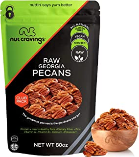 Raw Pecan Halves & Pieces - No Shell, Superior to Organic (80oz - 5 Pound) Packed Fresh in Resealable Bag - Nut Mix Snack ...