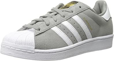 adidas Men's Superstar Suede-m, Solid Grey/White/Solid Grey, 7 D(M ...