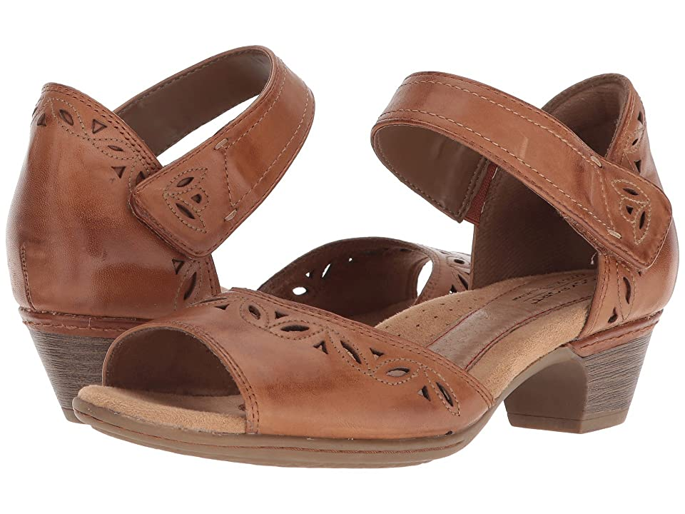 Rockport Cobb Hill Collection Cobb Hill Abbott Two-Piece Ankle Strap (Tan Leather) Women