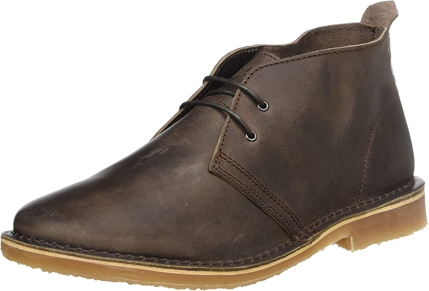 Jack & Jones Men's Jfwgobi Leather Chocolate Brown Desert Boots