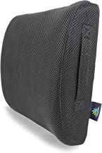 Coolidge Premium Lumbar Support Back Cushion 100% Memory Foam Orthopedic Design Back Pain Relief Use Computer/Office Chair, Car, Recliner etc.
